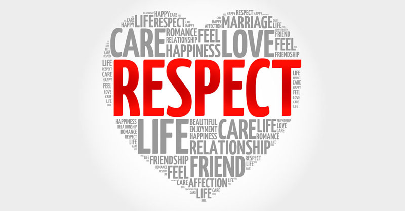 respect concept heart word cloud - dsbu