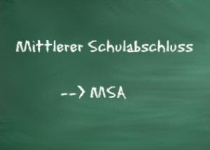 mittlerer schulabschluss msa - dsbu