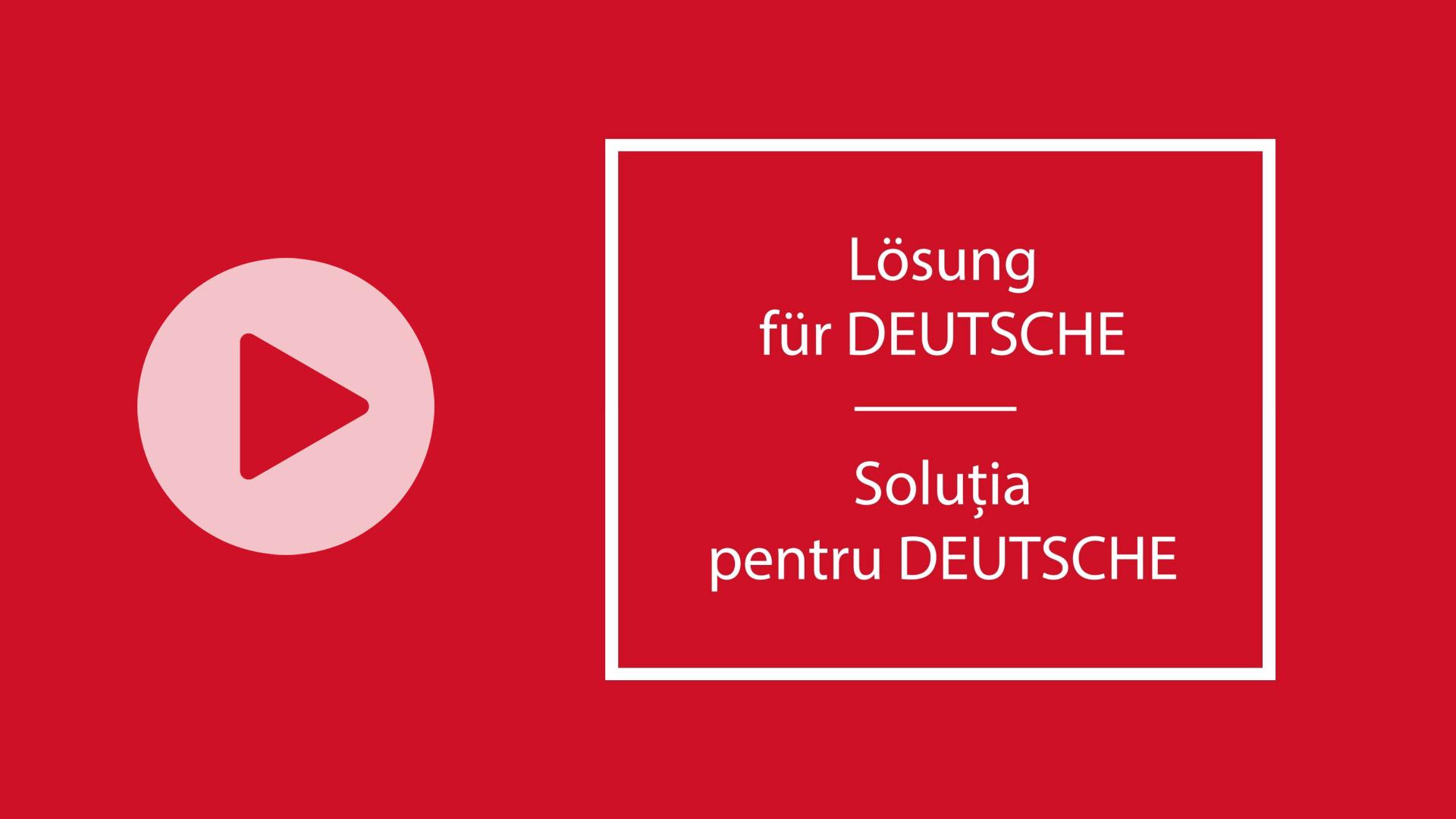 dsbu - solutia pentru deutsche